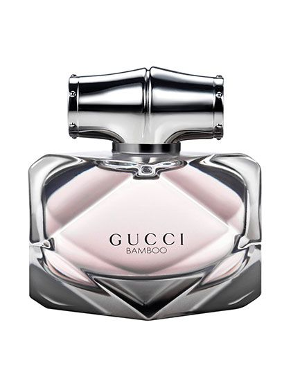 Gucci Bamboo There's nothing overtly feminine about this fragrance, but that's not to say it lacks charm. The gray geometric bottle holds a scent that's woodsy, sophisticated, and not the least bit sweet.