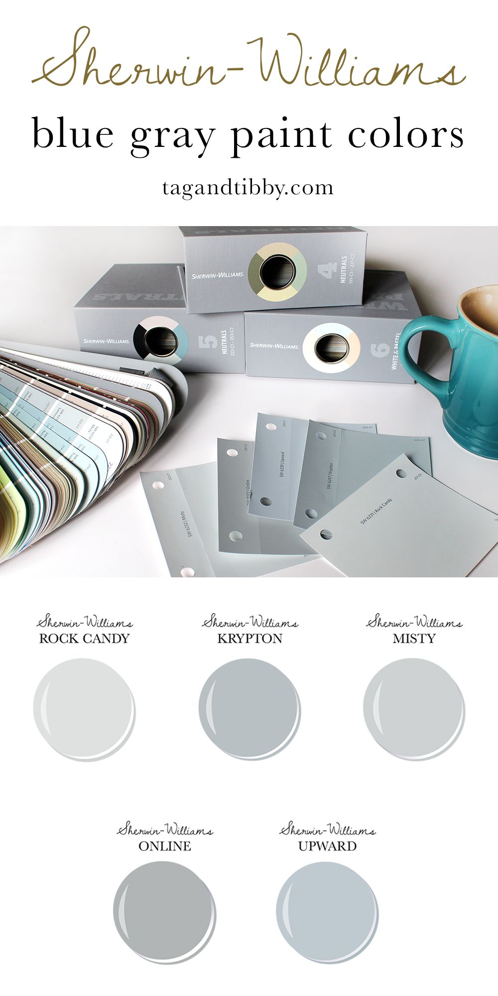 The Best 5 Blue Gray Paint Colors Crafts Recipes Diy And More