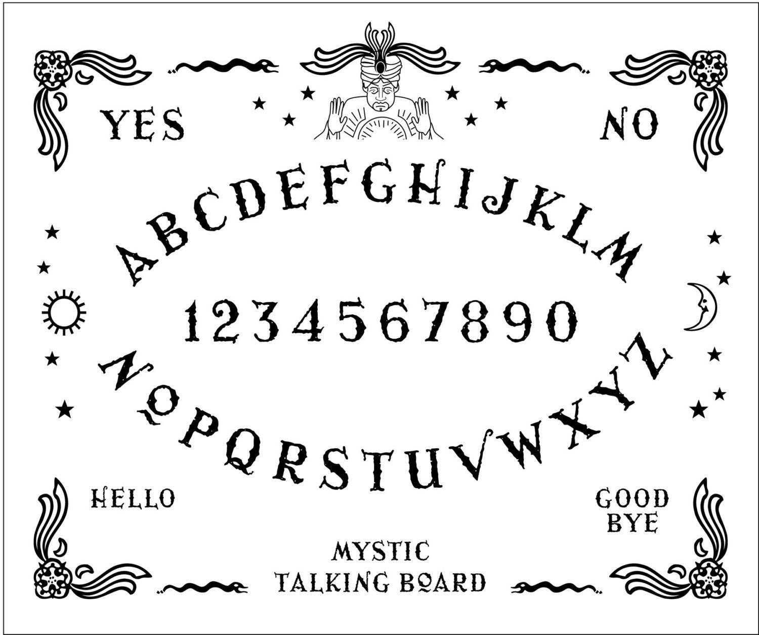 Ouija Board Hand Embroidery | pop-up | Embroidery sampler