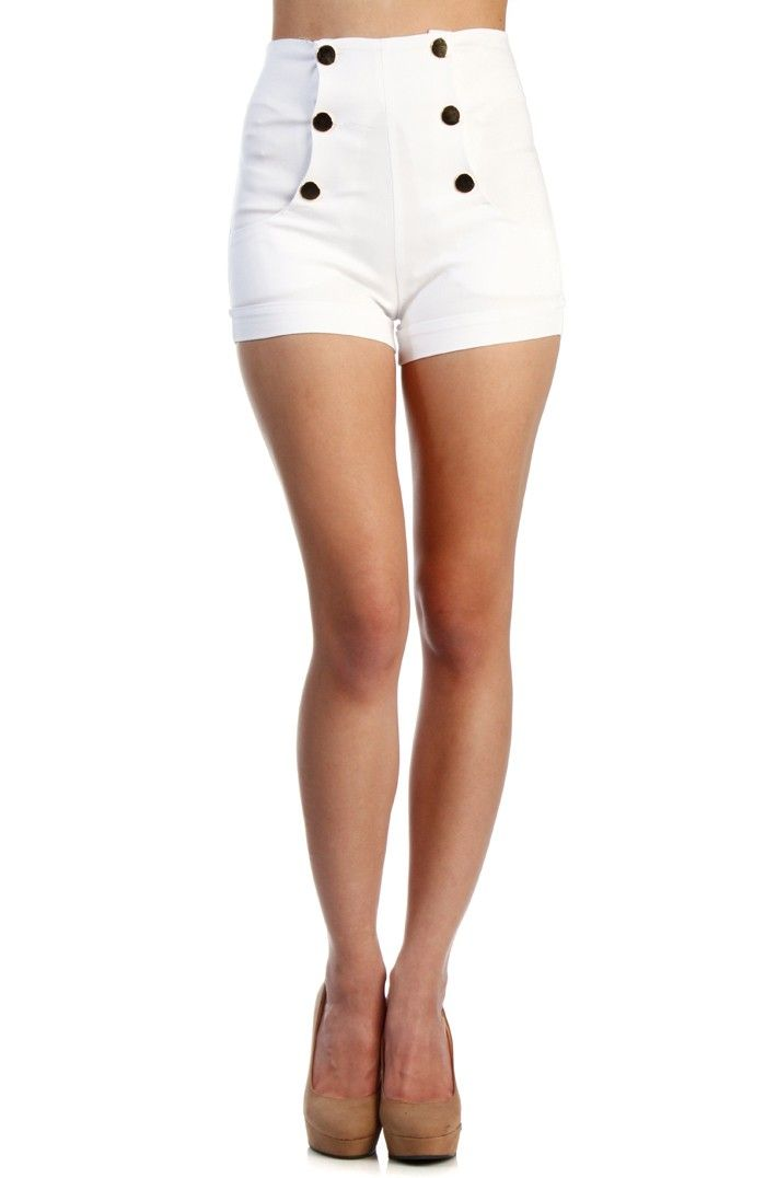 heetheadz.com high waisted white shorts (03) #highwaistedshorts ...