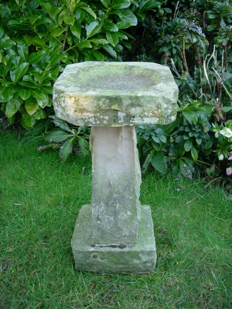 old weathered york stone bird bath ebay stone birdbath stone rh pinterest com