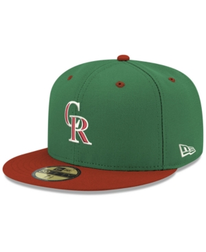 new arrival 65302 cbf68 New Era Colorado Rockies Green Red 59FIFTY Fitted Cap - Green 7 1 2