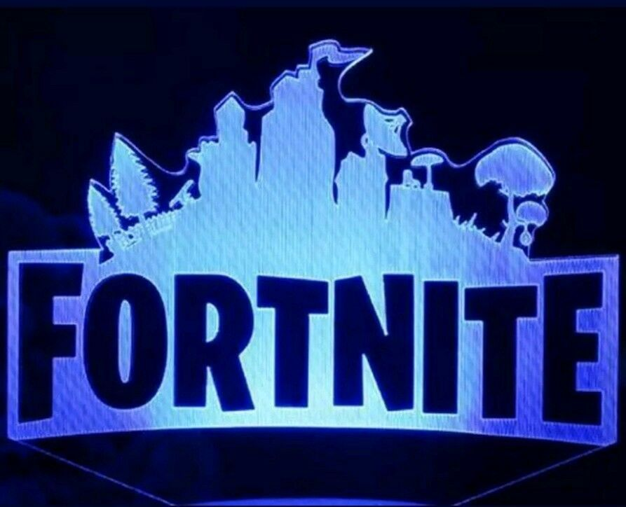 Fortnite Game Video Logo Led 3d Illusion Lamp Light Lamplight Neon Sign 2d Laser Fortnite For Neon Signs 3d Illusion Lamp Led Color Changing Lights