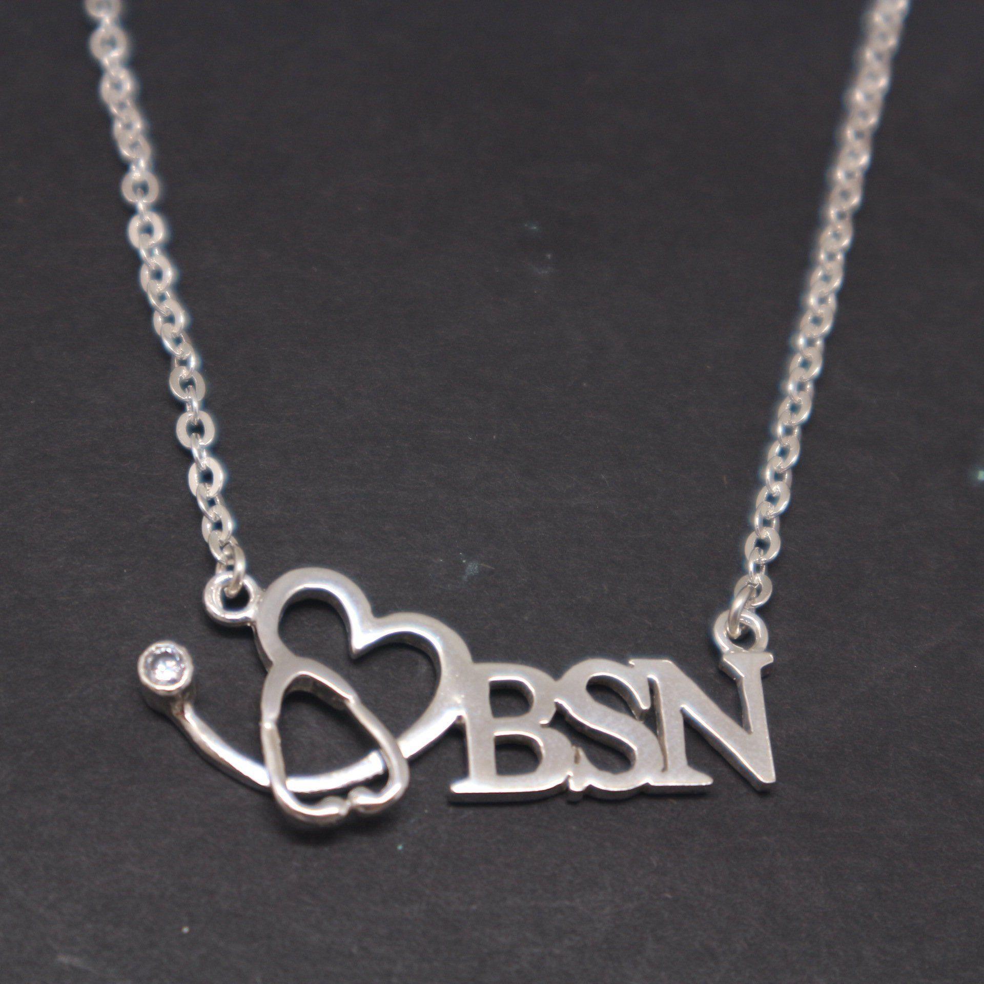 Bsn stethoscope necklace nurse practitioner nursing