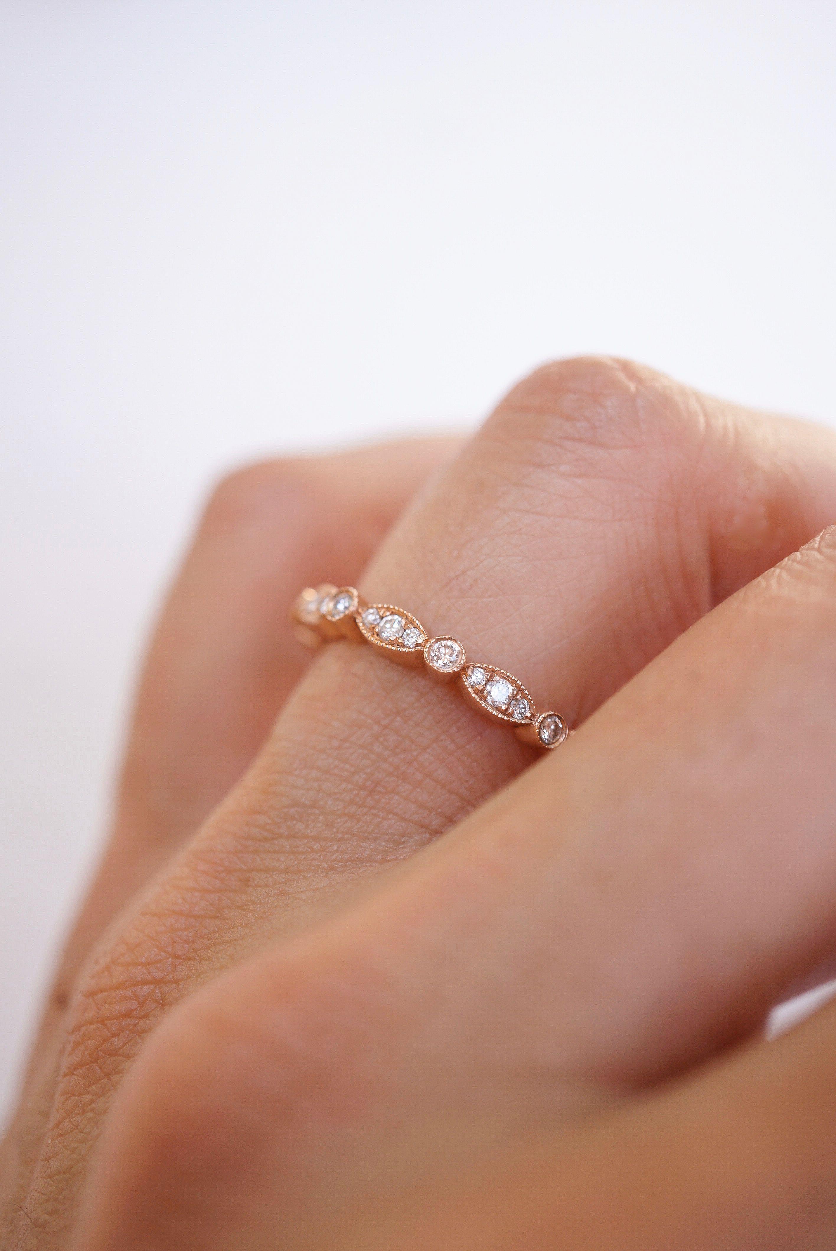 17++ Vintage rose gold diamond wedding band info