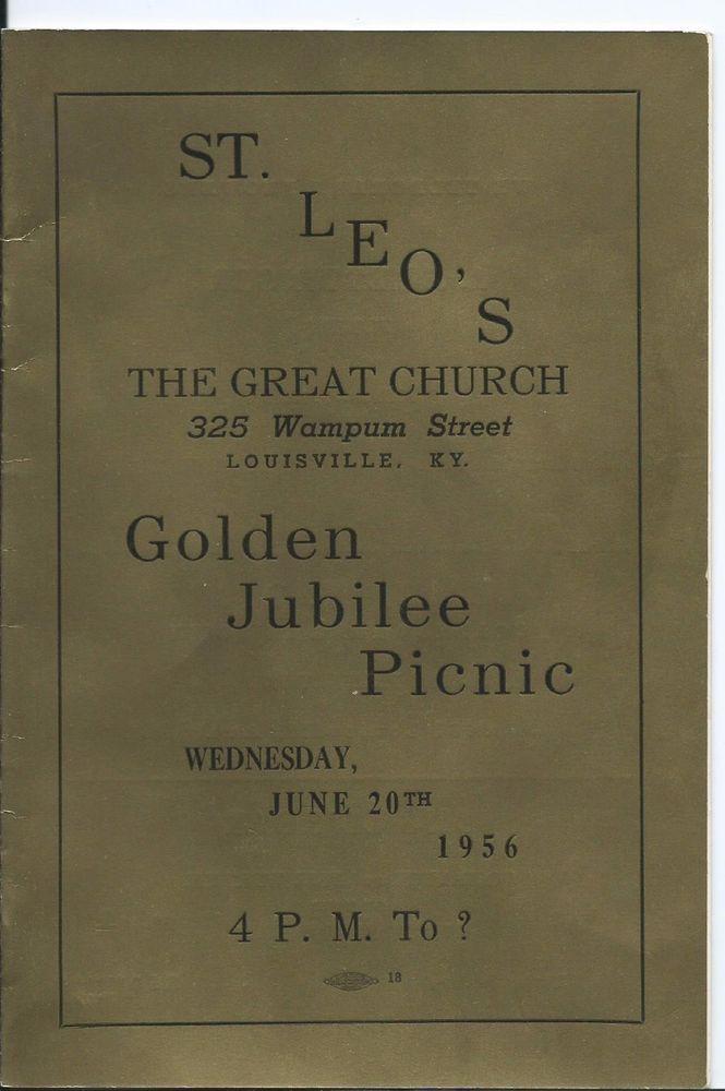 1956 Booklet St Leo Catholic Church Louisville Ky 50th