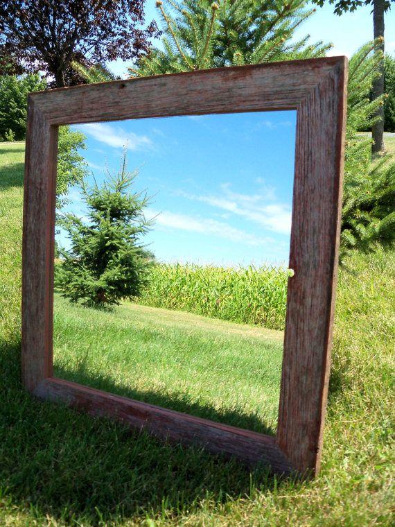 Barn board mirror | Barn wood frames, Mirror frames, Barn wood