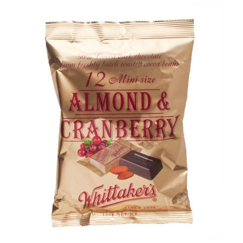 Almond Cranberry Mini Slabs Whittakers 180g Shop