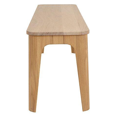 dbc38b5576bf Buy Ebbe Gehl for John Lewis Mira 3-Seater Dining Bench, Oak Online at