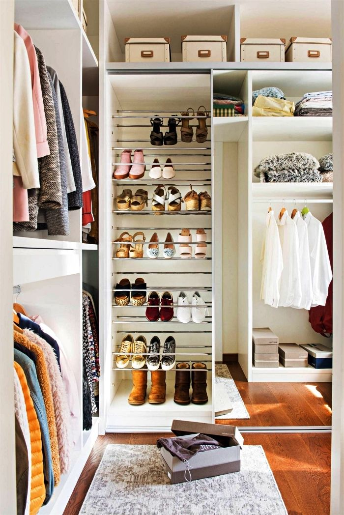 1001 + idées pour aménager un dressing à chaussures   Meuble rangement chambre, Amenagement ...
