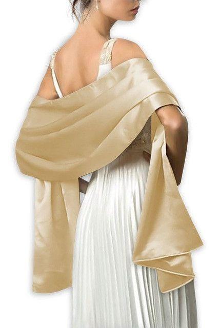 Elegant Women Satin Wrap Shawl Evening Party Wrap Bridal Wedding Shawl Wrap 2 Size Women S Evening Dresses Satin Bridesmaid Dresses Bridal Accessories Wedding