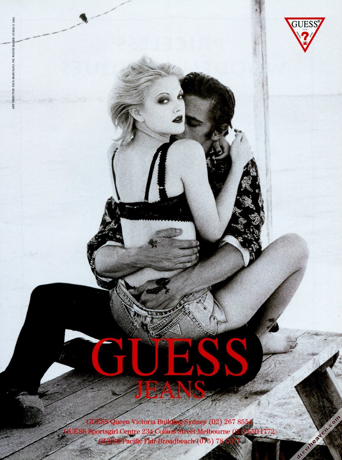 Drew Barrymore Guess Ad 1990 S Guess Ads