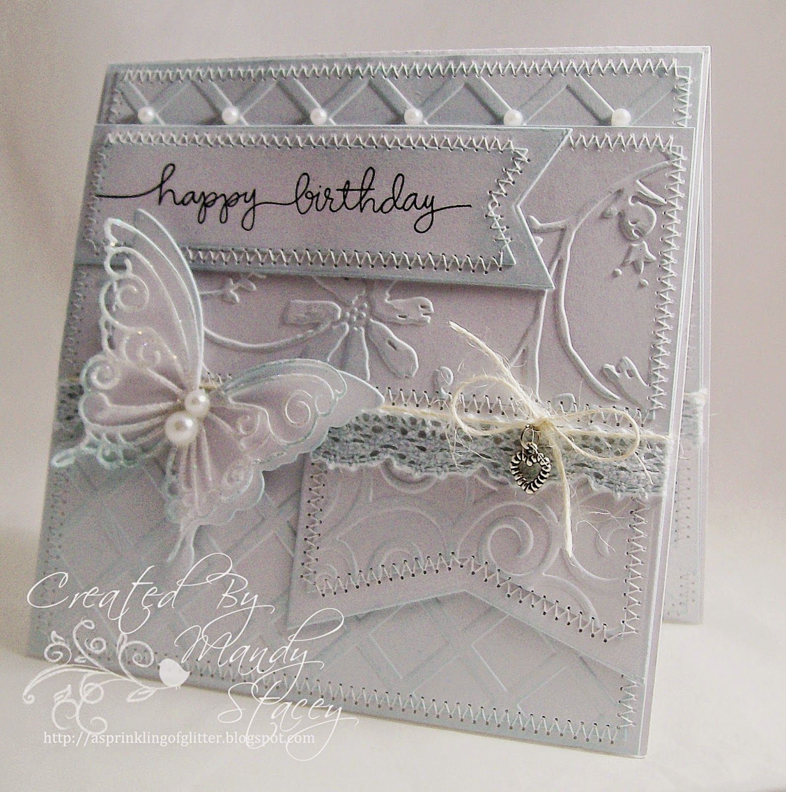 Lovely card created by Mandy for the Simon Says Stamp Wednesday challenge (A Little Bit of Texture)