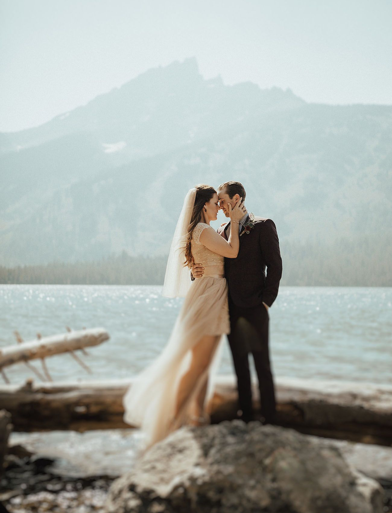 Wedded in the woods of grand teton national park green weddings