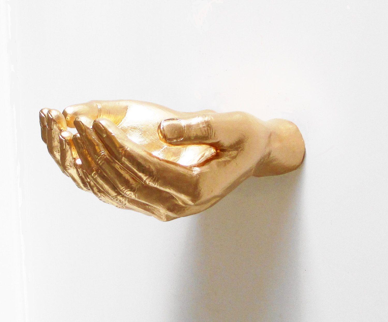 Wall Decor Hand Wall Shelf Gold Hands Wall Hands Hand Statue