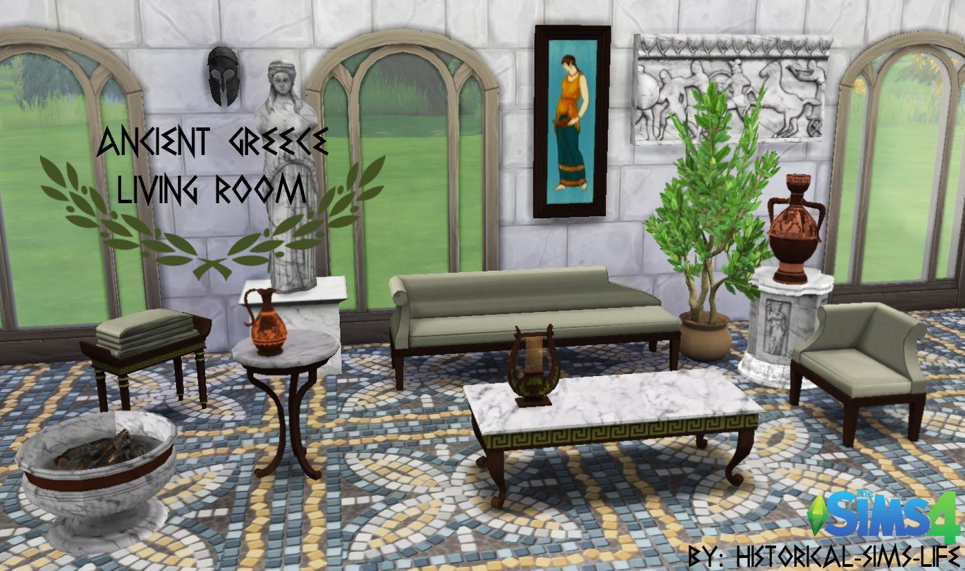Ancient Greece Living Room Set At Historical Sims Life Via 4 Updates
