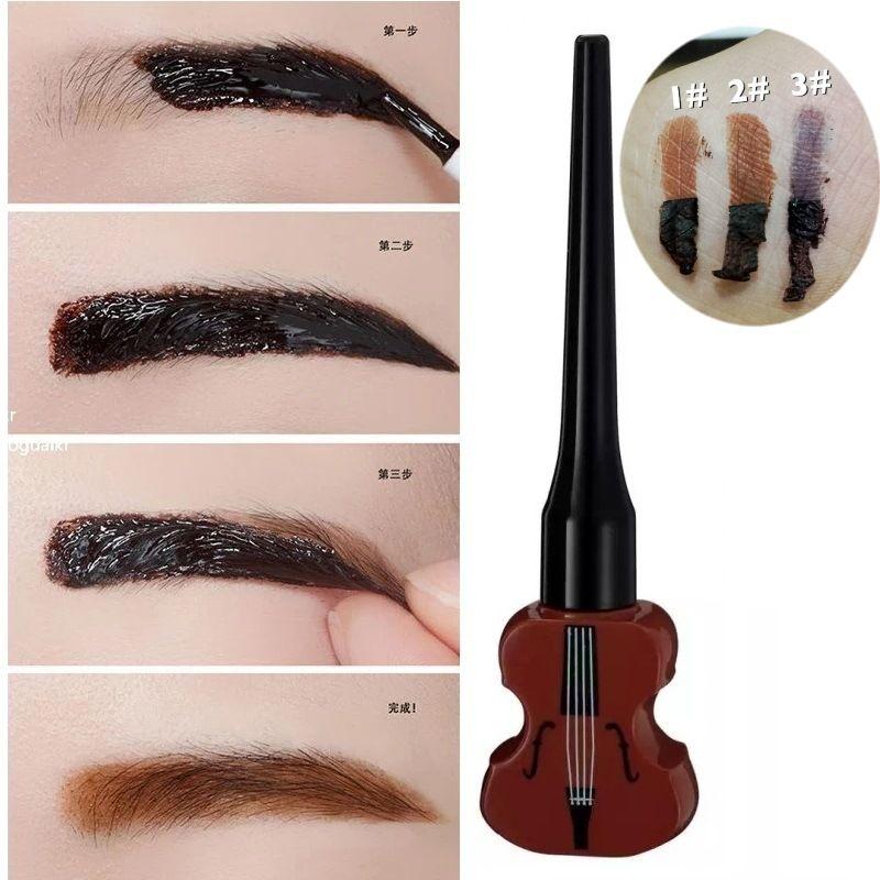 Brand Makeup Semi-permanent Peel Off Eyebrow Paint Gel Guitar ...