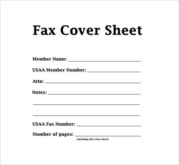 Free Fax Cover Sheet Template Format Example Pdf Printable  Cover