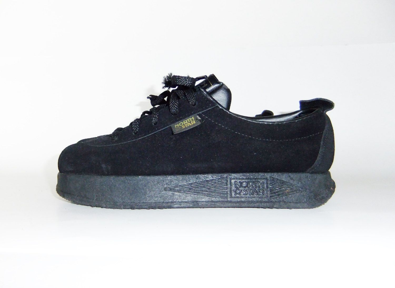 6f903a601e8d9d North star shoes earth shoes black suede flat shoes lace up shoes vintage  shoes deadstock vintage