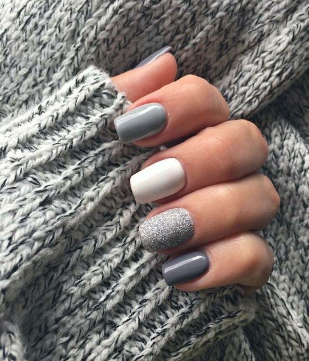 Grey Nails Nails Art Girl Polish Cute Makeup January 02 2020 At 01 17pm In 2020 Classy Nails Short Acrylic Nails Nail Colors Winter