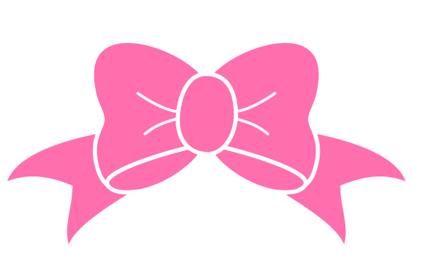 50+ Pink bow clipart free ideas