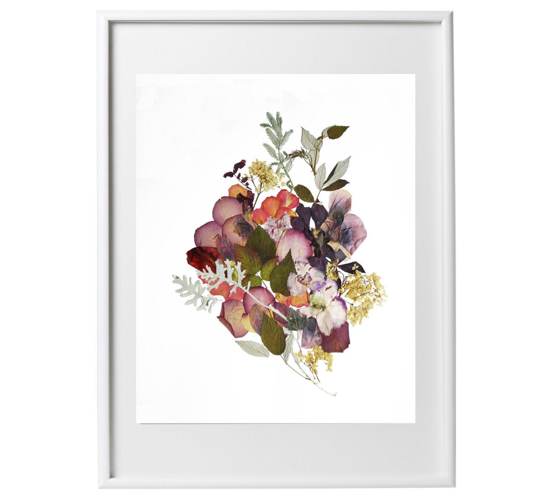 Framed Dried Flowers Art Flower Art Pressed Plant Art