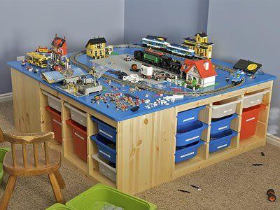 Tavolino Bimbi ~ Il tavolino dei lego con contenitori per tenere tutto in ordine