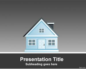 Free house powerpoint template with gray background and house free house powerpoint template with gray background and house toneelgroepblik Image collections