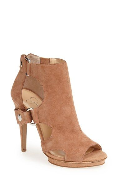 Free shipping and returns on Jessica Simpson 'Faina' Cutout Sandal (Women) at Nordstrom.com. Arched cutouts play peekaboo on a statement sandal featuring a low slingback strap and gleaming goldtone hardware.