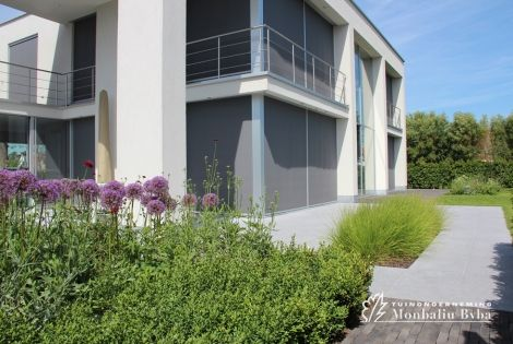 Aangelegde tuinen door tuinonderneming monbaliu moderne tuin met