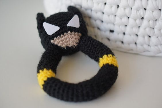 Superhero Batman rattle amigurumi pattern | Häkeln | Pinterest | Häkeln