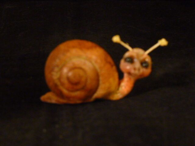 ooak baby miniature baby snail fairy faerie fae woodland sprite by No Tua Lyke