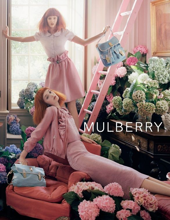 Image 11- Mulberry Spring Summer 2011 campaign, shot by Tim Walker. I wanted to look into a variety of different advertisements that use the pastel themes to see what already exists. The composition works well and uses a mixed colour palette but keeping to the same theme
