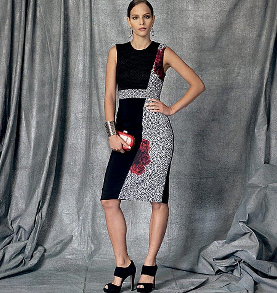 Vogue V1468   Colourblock dresses   Pinterest