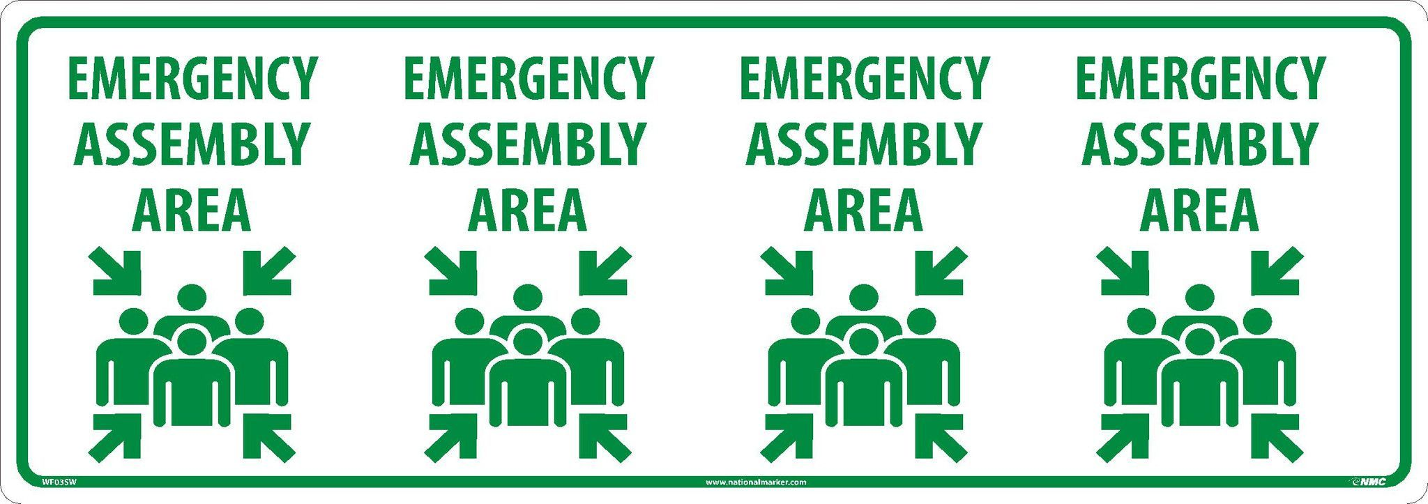 "Emergency Assembly Graphic - SportWalk 36""x36"" Column Wrap Sign - Self Adhesive Vinyl - Each"