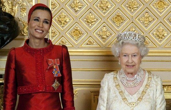 Mozah + Queen Elizabeth II