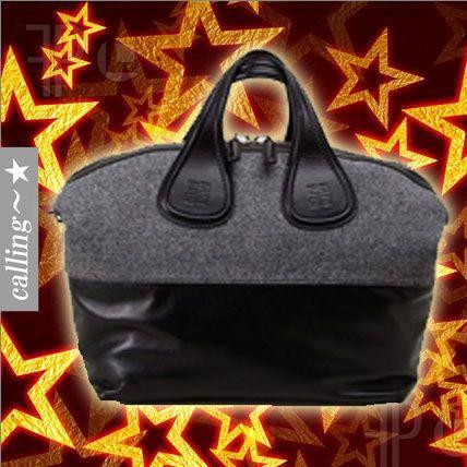 セレブ愛用者多数☆GIVENCHY☆ Nightingale Medium leather tote 上品で柔らかな子羊革使用ゆったりとしたバッグは内側は広めのトートバッグ 中にジッパー付きのポケットが付いています