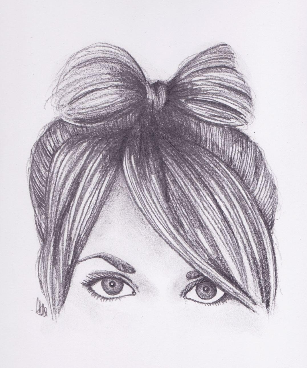 Ak0pinimgoriginalsaa37fa cute pencil drawings tumblr 19 best photos of cute hair bow drawing