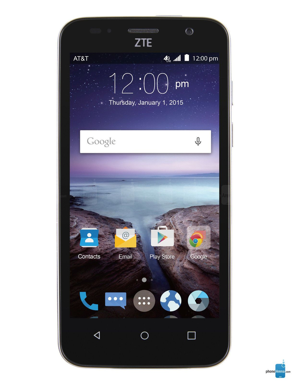ZTE Z812 Maven 8GB at T Black Unlocked Smartphone New