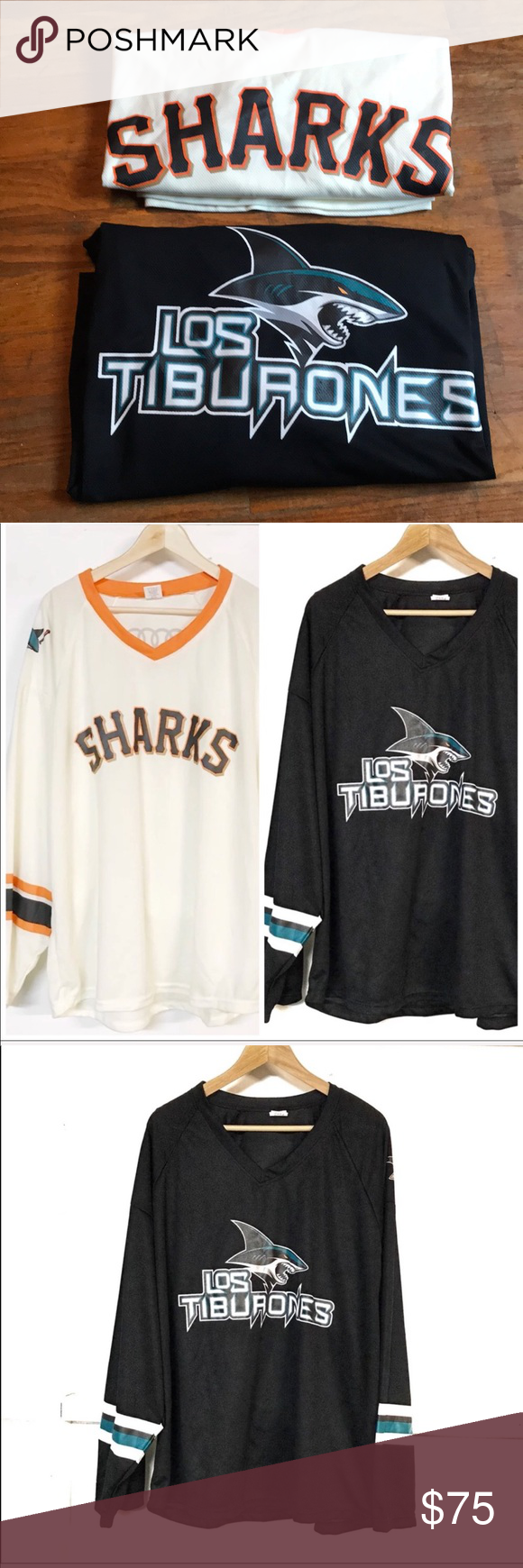 7f4fe5ac0d4 Rare Limited Edition San Jose Sharks Jerseys Med Both included in bundle  Limited Edition San Jose