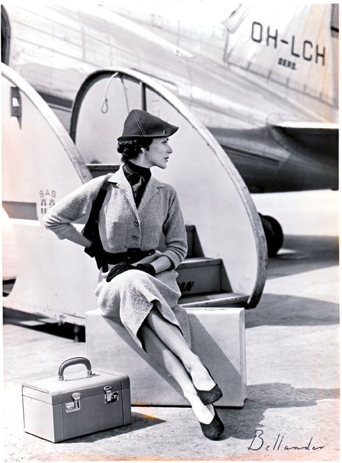 The 50's was the golden age for glamorous traveling. Palmgrens offered a variety of luxurious vanity cases and luggage for the modern traveler.