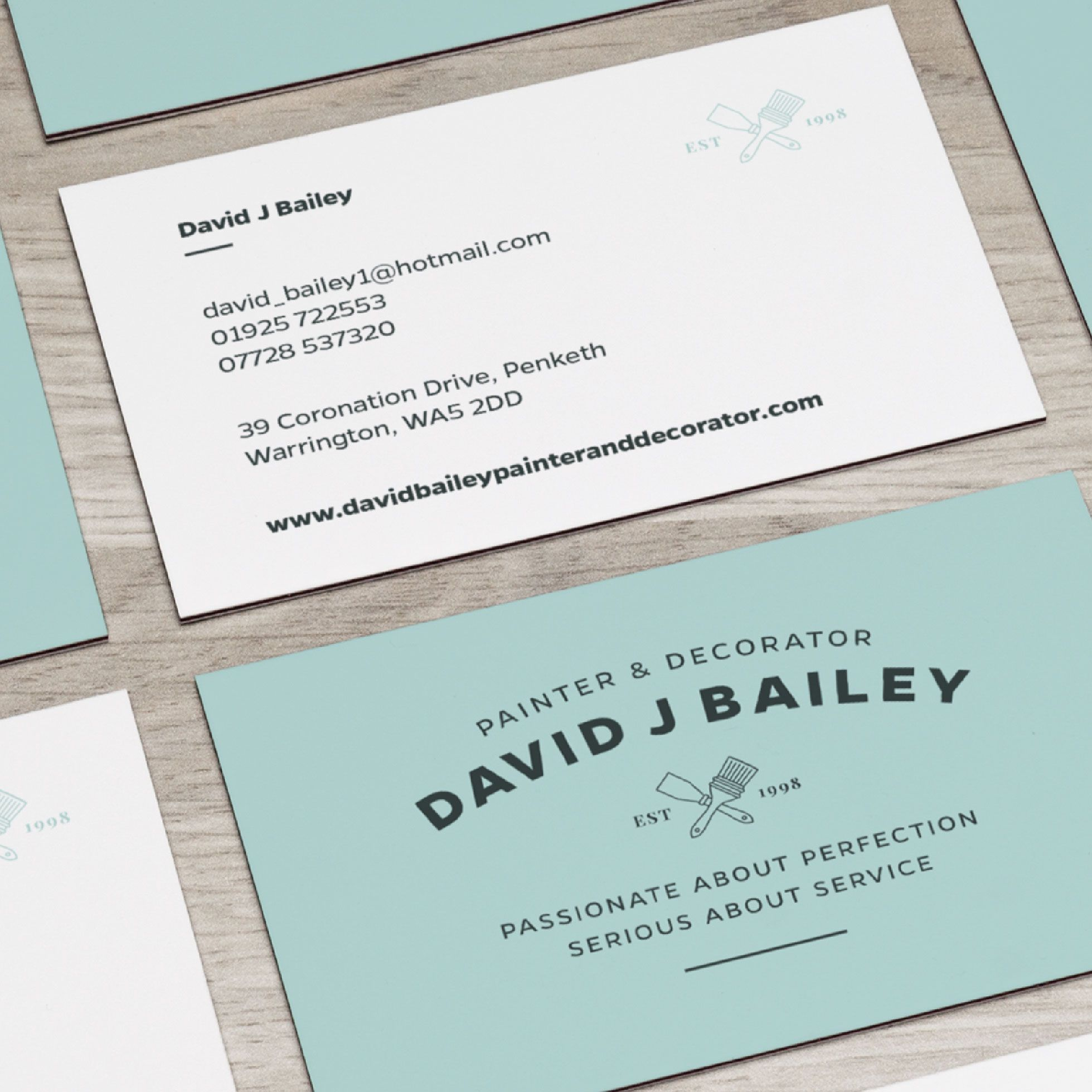Painter And Decorator Branding And Logo Design Business Card Print Design Business Cards Layout Printing Business Cards Painter And Decorator