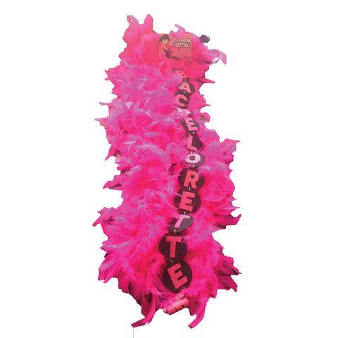 Miss Bachelorette Flashing Boa Pink
