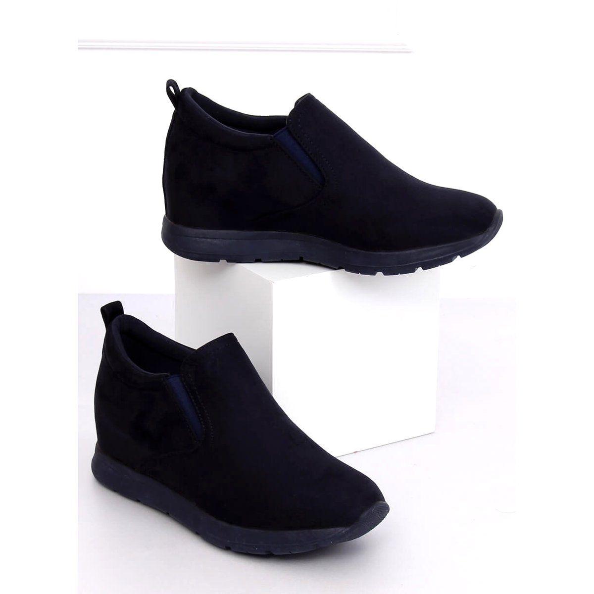 Polbuty Na Ukrytym Koturnie Granatowe Zy 7k67 Blue Shoes Slip On Sneaker Sneakers
