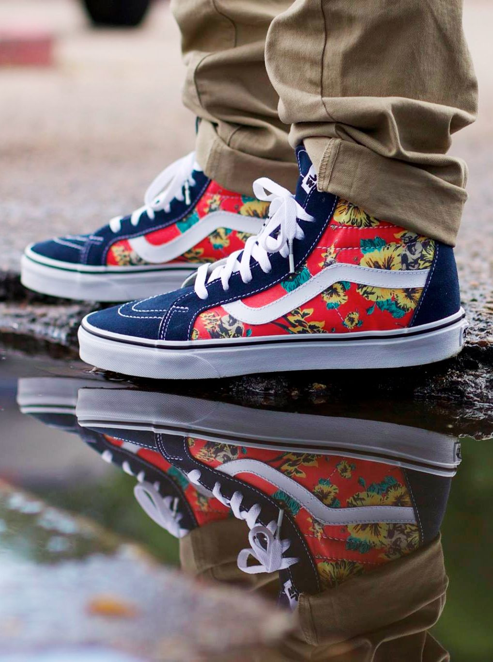 564ae1af6782 Star Wars x Vans Sk8-Hi Reissue  Yoda Aloha   karmaloop has some of the  collection - Rep code