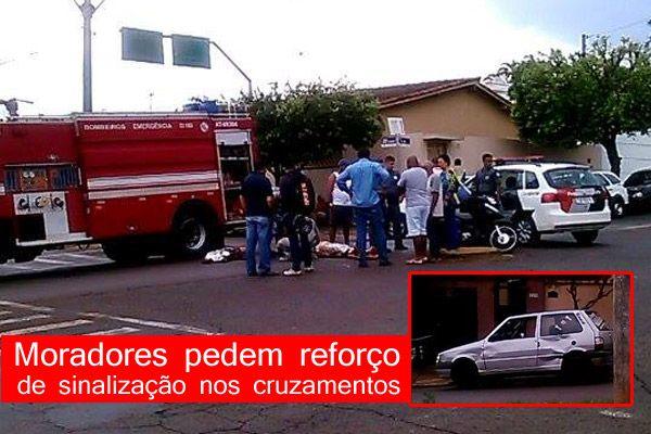 Acidente entre moto e carro deixa um ferido em Orlândia