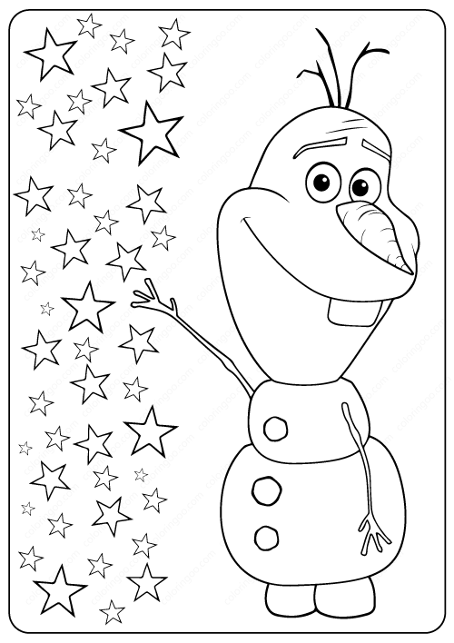 Free Printable Frozen Olaf Coloring Pages In 2020 Omaľovanky