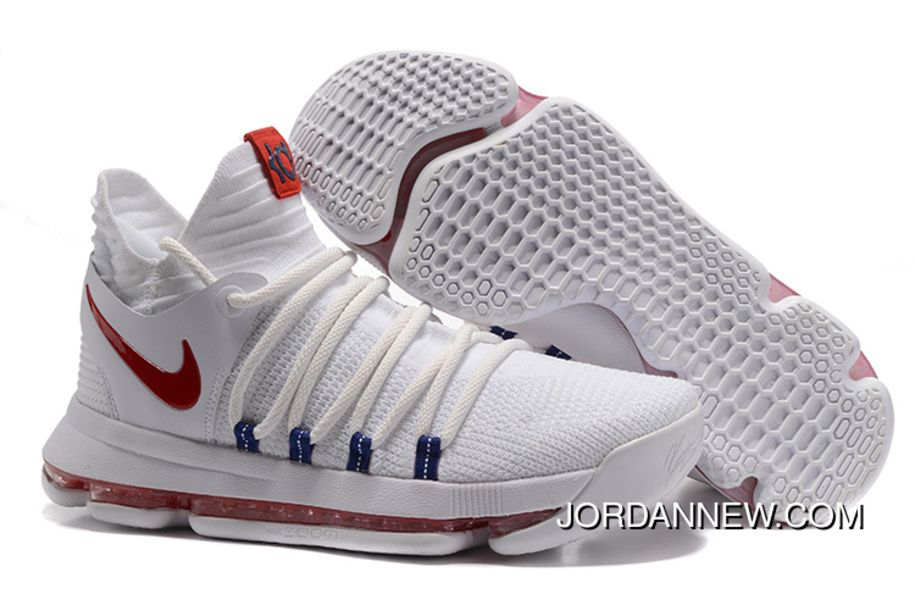 Nike KD 10 White Red Men Shoes Kevin Durant Cheap To Buy 75jMGaG, Price:  $98.14 - Air Jordan Shoes, Michael Jordan Shoes