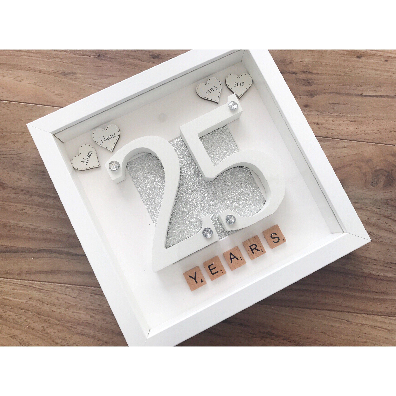 Twenty fifth wedding anniversary gift, silver wedding, 25