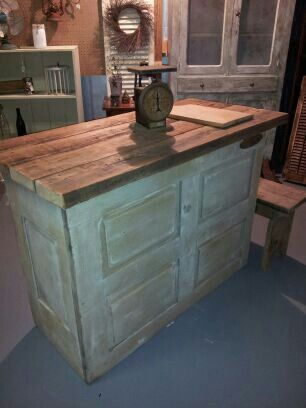 Kitchen Island Made With Pallets kitchen island made from old door. | things l made | pinterest